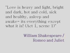 Shakespeare's Romeo and Juliet quote