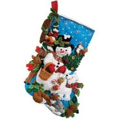 @Overstock - Create your own unique and beautiful stockings for Christmas with this complete stocking felt applique kit from Bucilla. The kit comes with stamped felt, cotton floss, sequins, beads, needles and trilingual, easy-to-follow instructions.http://www.overstock.com/Crafts-Sewing/Woodland-Snowman-Stocking-Felt-Applique-Kit/6203559/product.html?CID=214117 $23.99
