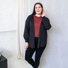 Eco-friendly and versatile cardigan for a capsule wardrobe. Cocoon Cardigan, Sustainable Fabrics, Perfect Wardrobe, Cool Sweaters, Slow Fashion, Wrap Style, Workwear, Capsule Wardrobe, Fashion Brand