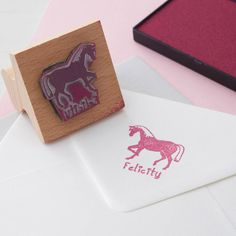 personalised child's rubber stamp by english stamp | notonthehighstreet.com