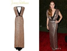 Amy Adams' Jenny Packham Sequined Silk Gown
