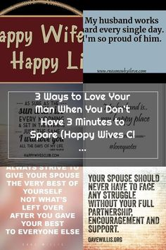 3 Ways to Love Your Man When You Don't Have 3 Minutes to Spare | Happy Wives Club | Bloglovin' Happy Wife Quotes, Your Man, Singles Day, Are You Happy, Love You, Club, Te Amo, Je T'aime, I Love You