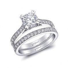 Coast Diamond Engagement ring (#LC5463/ WC5463) - Uniquely tailored prongs and pave diamond details make this ring a special symbol of true love.