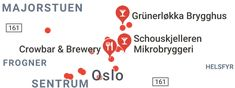 Map of craft beer oslo