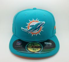 Miami dolphins nfl on field new era 59 fifty fitted hat cap (size 7 3 4) --  new 16a52f3dd