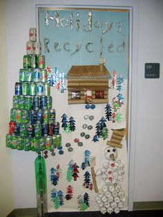 Christmas door decorating idea!