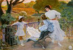 """In the Park"" by Jose Villegas Y Cordero (1907)"