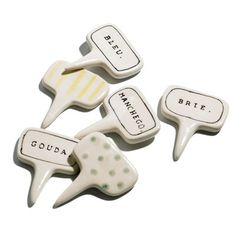 Need a hostess gift? Bring this Hamptons Cheese Marker set for an organized cheese platter at your next holiday party. #giftguide | Health.com