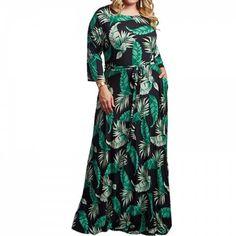 61280af6b95 5XL Plus La Taille Florale Maxi Robe En Mousseline De Soie Etage Robe Longue  Automne Femmes