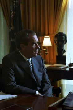 President Richard Nixon seated in the Oval Office (25 Sept 1970)