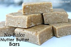 No Bake Nutter Butter Bars