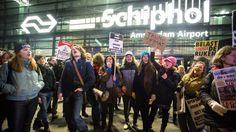 Zes Iraniërs sinds zaterdag op Schiphol vanwege inreisverbod VS | NOS