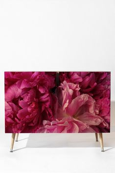 Lisa Argyropoulos Glamour Pink Peonies Credenza | DENY Designs Home Accessories