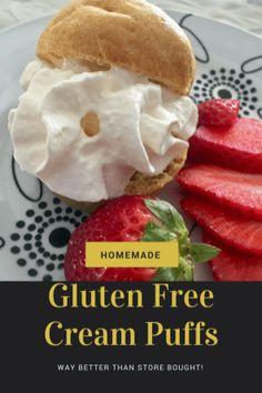 Gluten Free Cream Puffs #glutenfree #gf #dessert #homemade