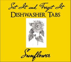 Set It & Forget It SUNFLOWER Dishwasher Tabs by YellowEpiphanies, $5.50