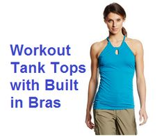 Workout Tank Tops with Built in Bras