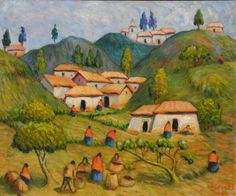 """Peruvian Painter Hugo Lecaros paints """"from his heart"""" scenes of his native Peru. His watercolors and oils convey the profound spirit of the Peruvian people and the magical beauty of the Andes. He has been called the """"the poet painter who sings with brush strokes of genius."""" Lecaros was awarded the prestigious Premio Nacional Medalla de Oro del Inca Garcilaso de la Vega by the Instituto Nacional de Cultura in Peru in 2005."""