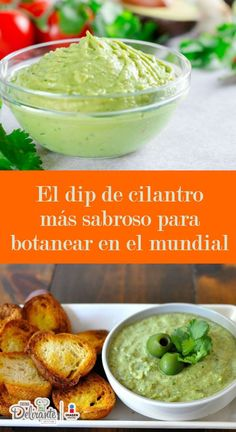 El dip de cilantro más sabroso para botanear en el mundial Dünya mutfağı - Dünya mutfağı - Las recetas más prácticas y fáciles Appetizer Dips, Appetizer Recipes, Snack Recipes, Cooking Recipes, Tapas, Boricua Recipes, Desert Recipes, Mexican Food Recipes, Healthy Snacks
