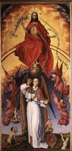Rogier van der Weyden-Polittico del Giudizio universale(pannello centrale), 1445-1448 circa, Beaune, Hôtel-Dieu