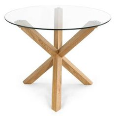 Ophelia & Co. Sinead Dining Table & Reviews | Wayfair Pedestal Dining Table, Solid Wood Dining Table, Dining Room Bar, Dining Tables, Kitchen Dining, Glass Round Dining Table, Round Kitchen, Wood Pedestal, Basement Kitchen