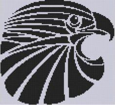 Eagle Head Cross Stitch Pattern