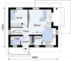Проект дома Z71 - план-схема 1