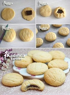 Biskrem Kurabiye Tarifi Videosu Biscuits, Candy Making, Homemade Beauty Products, Cookie Recipes, Cake Decorating, Bakery, Food And Drink, Sweets, Bread
