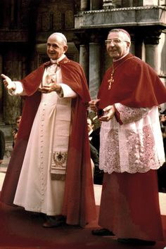 """Pope Paul VI and who would become his successor, John Paul I, """"the smiling Pope"""" Catholic Art, Catholic Saints, Roman Catholic, Pope John, Pope Francis, Papa Pio Xi, Pope Costume, Pope Of Rome, Pope Pius X"""
