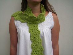 lime green crochet scarf | by baban cat