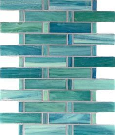 Image result for aqua glass random brick tiles