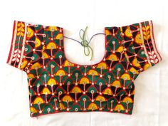 Indian traditional tribal embroidery Blouse,readymade kutch embroidered Blouse