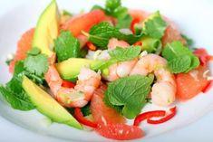 Recette de Salade minceur avocat crevettes pamplemousse. Facile et rapide à réaliser, goûteuse et diététique. Ingrédients, préparation et recettes associées.