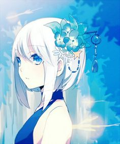 White Hair Anime Girl http://www.youtube.com/user/MRAnimeMaster96 http://anime-master-96.deviantart.com/