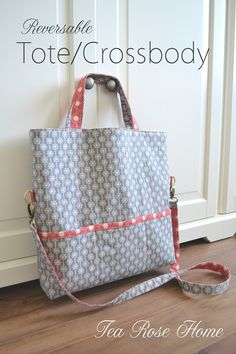 Tea Rose Home: ModeS Fabric Review ~ Reversable Tote/Crossbody Bag Tutorial
