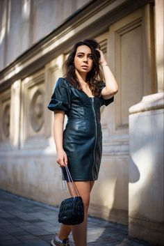 Bershka leather dress