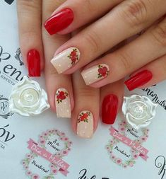 Best Nail Art Designs 2018 Every Girls Will Love These trendy Nails ideas would gain you amazing compliments. Check out our gallery for more ideas these are trendy this year. Best Nail Art Designs, Gel Nail Designs, Beautiful Nail Designs, Shellac Nails, Red Nails, Cute Nails, Pretty Nails, Neutral Nails, Cool Nail Art