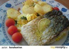 Fajnovej kapr recept - TopRecepty.cz Eggs, Cheese, Meat, Chicken, Breakfast, Food, Morning Coffee, Essen, Egg