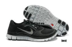Womens Nike Free Shoes - Nike Free Run 3 5.0 Black Wolf Grey Reflect Silver