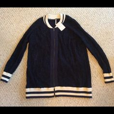 Free People Track Sweater Jacket in Midnight. Free People Cotton Blend Sweater Jacket. Worn once. Free People Sweaters