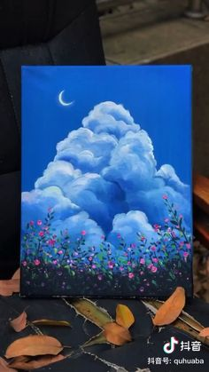 Simple Canvas Paintings, Easy Canvas Art, Small Canvas Art, Mini Canvas Art, Easy Art, Canvas Crafts, Multi Canvas Painting, Multiple Canvas Paintings, Canvas Board Painting