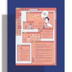 Curriculum Vitae Design on Behance Graphic Design Resume, Graphic Design Posters, Graphic Design Illustration, Branding Design, Cv Inspiration, Graphic Design Inspiration, Cv Original, Cv Curriculum Vitae, Presentation Design