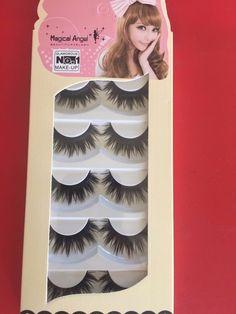 20f0e0e23ba New Natural Long Black Handmade 5 Pairs Thick Makeup Fake Eyelashes False  Lashes #Unbranded #