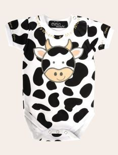Motherhood Maternity Eieio Moo Cow Baby Bodysuit
