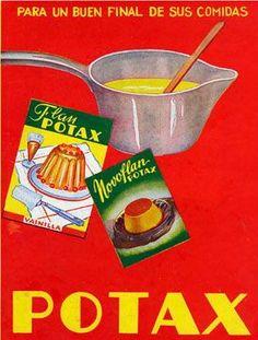 Carteles antiguos de publicidad- Flan potax