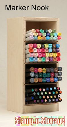 NEW PRODUCT! The Marker Nook Designed to hold large quantities of markers of all shape,size, and brand!