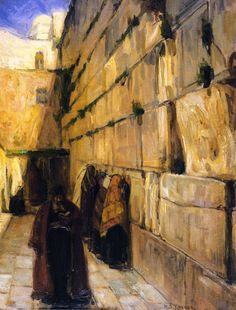 Study for The Jews' Wailing Place Henry Ossawa Tanner (1897) Rhode Island School of Design Museum of Art Painting - oil on canvas
