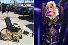 Lady Gaga recovers from surgery in style - with a 24-karat gold-plated wheelchair.