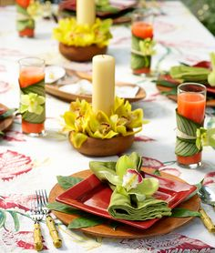 1800flowers Floral and Lifestyle Expert Julie Mulligan shows you how to decorate your luau party leis, place settings, centerpieces and drinks using with orchids!