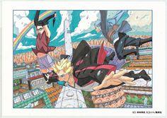 「NARUTO-ナルト-外伝~七代目火影と緋色の花つ月~」の第7話扉ページに使用されたカラーイラスト。(c)岸本斉史 スコット/集英社