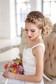 ombre braided wedding upos